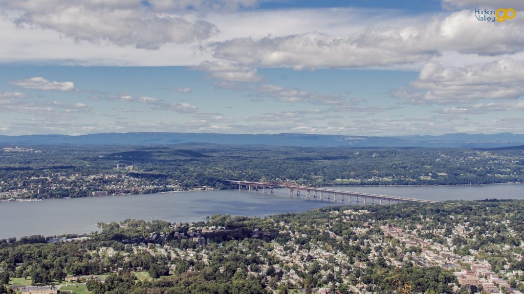 View of the Hudson River and the Newburgh-Beacon Bridge from the top of Mount Beacon